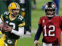Green Bay Packers vs. Tampa Bay Buccaneers juegan por la final de conferencia de la NFL este domingo (Getty Images)