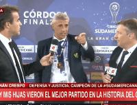 """Crespo intentó hablar de Maradona, pero vio a Fede Bueno y se emocionó: """"Gracias"""""""