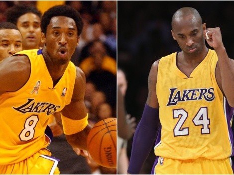 Why did Kobe Bryant change his jersey number from 8 to 24?
