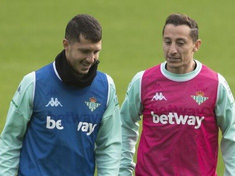 Guardado y Guido Rodríguez estallaron de felicidad tras la clasificación del Real Betis