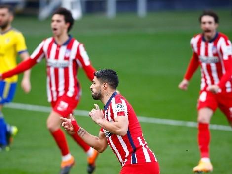 Suárez brilló, metió dos goles y Atlético Madrid  sigue bien arriba en LaLiga