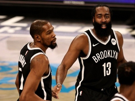 Kevin Durant praises James Harden's underappreciated defense after Nets' win over Clippers