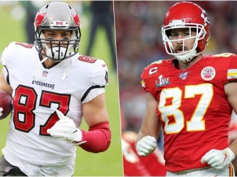 Rob Gronkowski vs. Travis Kelce: el duelo de ala cerradas que tendrá el Super Bowl LV