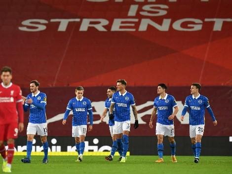 El Brighton se hizo enorme en Anfield y venció al Liverpool
