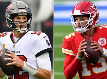 Tom Brady y Patrick Mahomes (Foto: Getty)