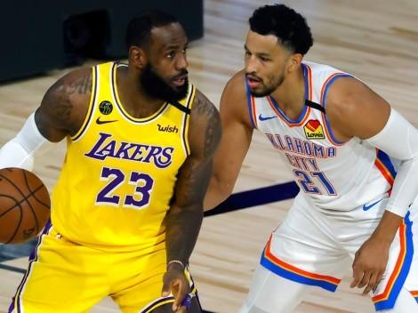 Oklahoma City Thunder travel to Los Angeles to face the Lakers