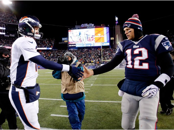 Tom Brady y Peyton Manning (Foto: Getty)