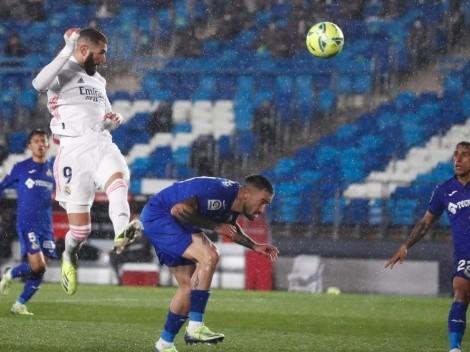 Real Madrid no se da por vencido: venció al Getafe por 2-0 con Benzema y Mendy