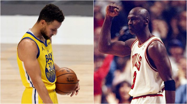 Stephen Curry y Michael Jordan