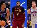 Hassan Whiteside, Andre Drummond y Blake Griffin
