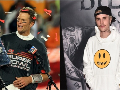 Tom Brady hilariously trolls Justin Bieber with throwback pic