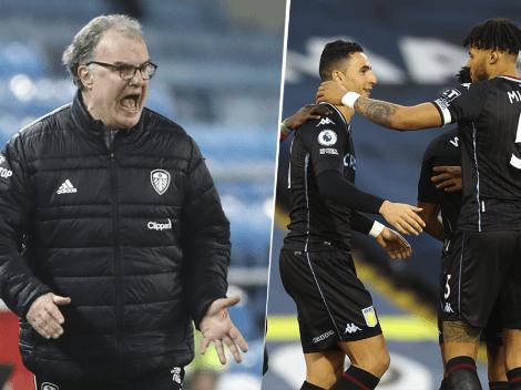 Bielsa terminó enojadísimo: al Leeds lo madrugó el Aston Villa y perdió 1 a 0