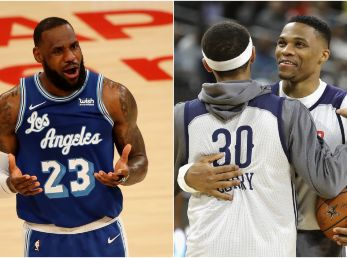 LeBron James, Stephen Curry y Russell Westbrook