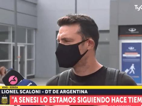 """Le preguntaron por Messi y Scaloni tiró: """"Es una respuesta bastante hecha"""""""