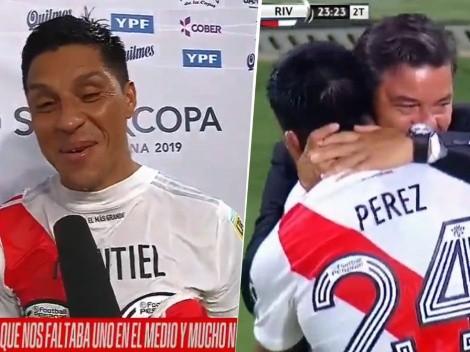 """Enzo Pérez y la charla con Gallardo antes del 2-0: """"No le gustó mucho"""""""
