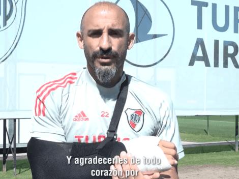 Video: Pinola les mandó un mensaje y los hinchas de River se volvieron locos