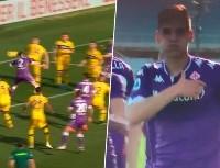 Martínez Quarta metió su primer gol con la Fiorentina y se lo dedicó a Montiel