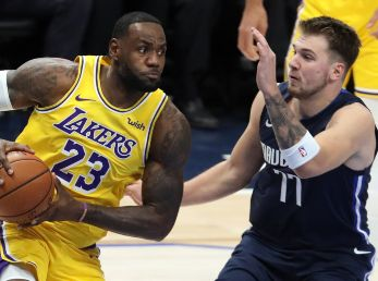 LeBron James y Luka Doncic
