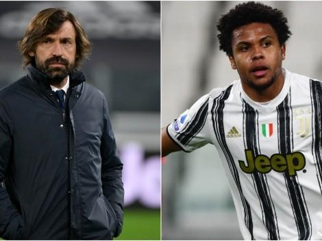 Las duras palabras de Andrea Pirlo como DT de la Juventus hacia Weston Mckennie