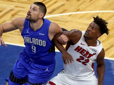 Orlando Magic and Miami Heat clash at the AmericanAirlines Arena