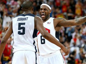 Kevin Durant y LeBron James
