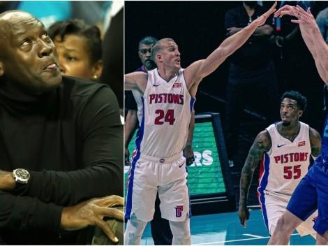 El talisman de Charlotte Hornets: aparece Michael Jordan y vencen a Detroit Pistons