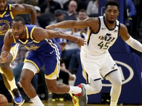 Western leaders Utah Jazz travel to meet the Golden State Warriors