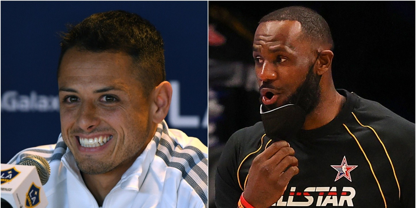 Javier Chicharito Hernández y LeBron James