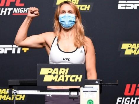 VIDEO | Peleadora de UFC se desmaya en medio de ceremonia de pesaje