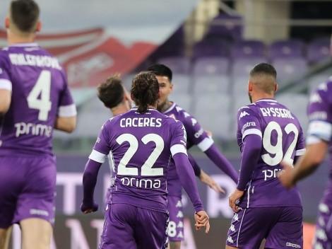 Erick Pulgar anota un golazo para la Fiorentina
