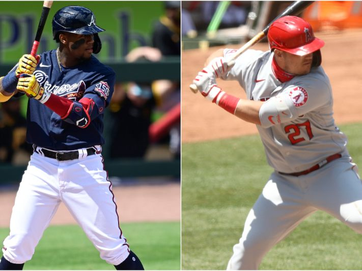 Ronald Acuña Jr. y Mike Trout