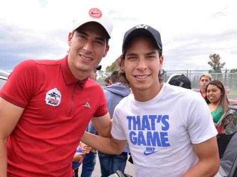 Diego Lainez no ve los partidos de su hermano Mauro Lainez