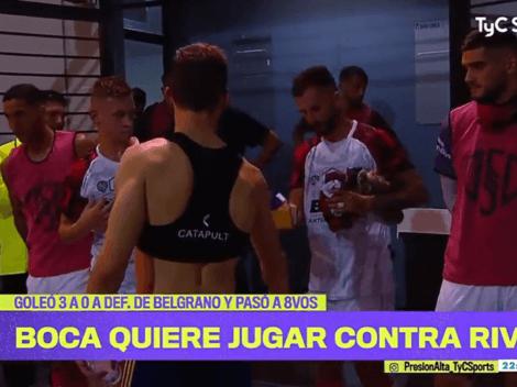 Video: el gesto de los jugadores de Boca con los de Defensores de Belgrano