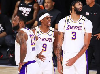 LeBron James, Rajon Rondo y Anthony Davis