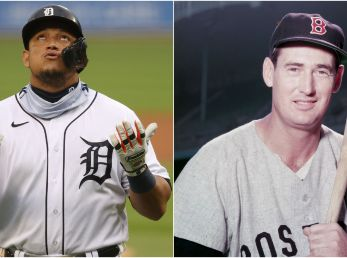 Miguel Cabrera y Ted Williams