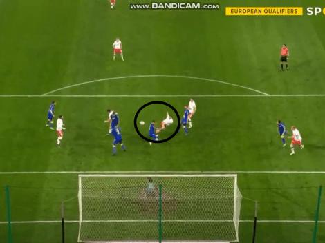 Video: con una volea formidable, Lewandowski marcó el primero de Polonia