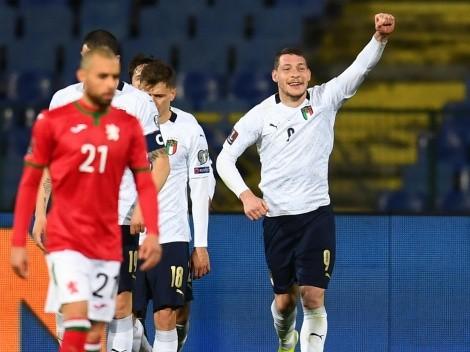 Italia barrió a Bulgaria como visitante y dio otro paso importante hacia Qatar