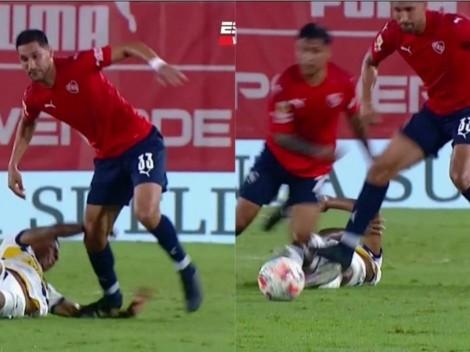 No lo ve el árbitro: Insaurralde pisa dos veces a Villa y pasa inadvertido