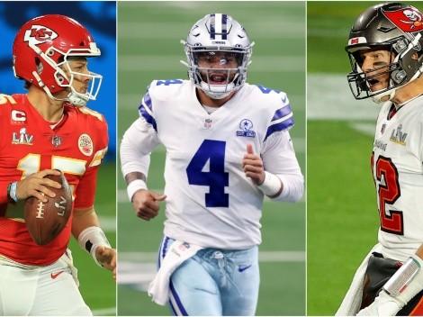 Borraron a Prescott: los 10 mejores quarterbacks de la NFL para el 2021