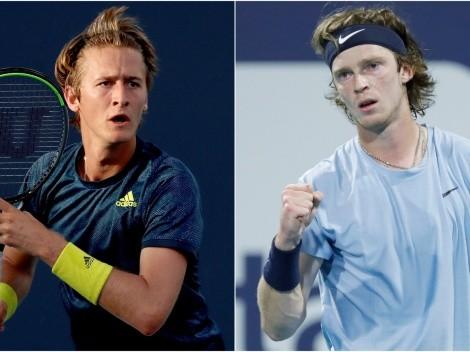 Sebastian Korda and Andrey Rublev clash for a semi-final spot in 2021 Miami Open