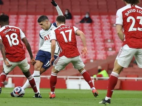 El golazo de rabona de Lamela fue elegido como el mejor del mes en la Premier League