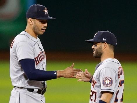 A los Astros no los perdonan: pelotazo y abucheos a Carlos Correa y José Altuve