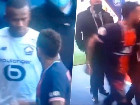 Neymar como nunca: quiso agarrarse a los golpes en el túnel del estadio del PSG