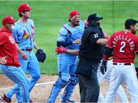 Yadier Molina, Cardinals y Reds envueltos en la primera pelea de la MLB en 2021