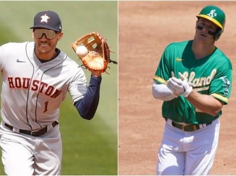 Otra vez los Astros: el polémico golpe de Carlos Correa a un rival en la cara