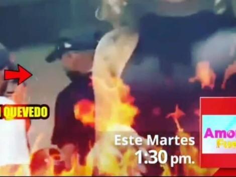 """""""En una juerga"""": Kevin Quevedo fue ampayado y reaccionó violentamente"""