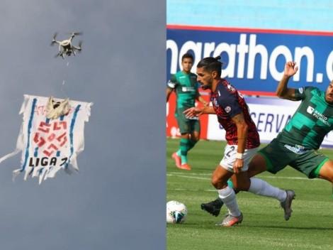 En partido de Alianza Lima: drone con frase 'Liga 2' voló por el estadio Alberto Gallardo