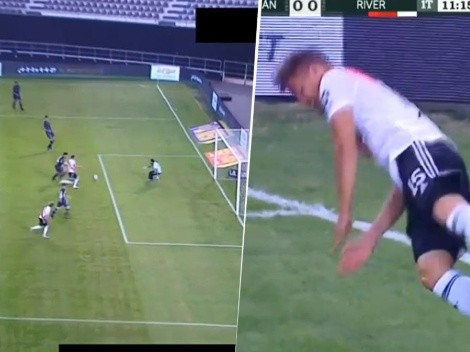 Video: Girotti, el pibe de River, hizo un festejo del FIFA 2021