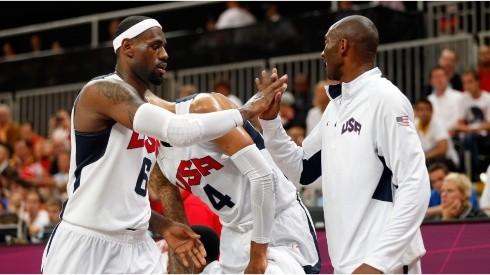 LeBron James & Kobe Bryant with Team USA. (Getty)