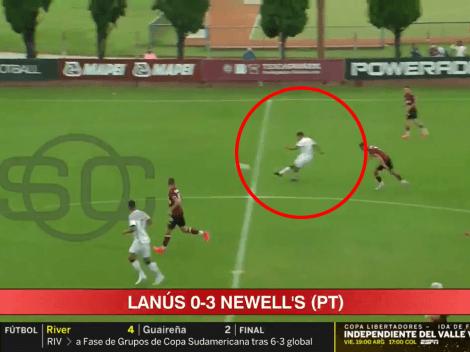 Video: tremendo golazo de mitad de cancha en la reserva de Newell's ante Lanús